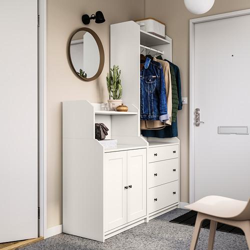 HAUGA - storage combination, white | IKEA Hong Kong and Macau - PE791535_S4