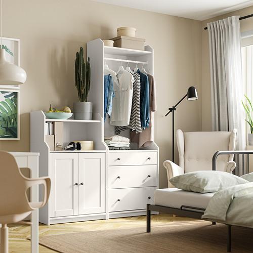 HAUGA - storage combination, white | IKEA Hong Kong and Macau - PE791536_S4
