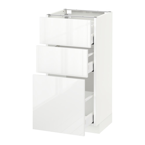 METOD - base cabinet with 3 drawers, white Maximera/Ringhult white | IKEA Hong Kong and Macau - PE522092_S4