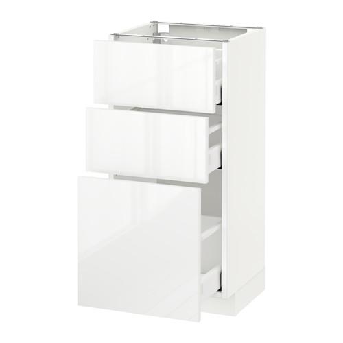 METOD - 3層抽屜地櫃, 白色 Maximera/Ringhult 白色 | IKEA 香港及澳門 - PE522092_S4