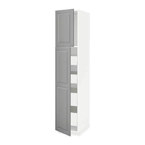 METOD/MAXIMERA - hi cab w 2 doors/4 drawers, white/Bodbyn grey | IKEA Hong Kong and Macau - PE586653_S4