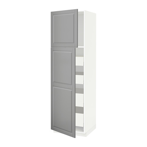 METOD/MAXIMERA - hi cab w 2 doors/4 drawers, white/Bodbyn grey | IKEA Hong Kong and Macau - PE586699_S4