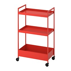 NISSAFORS - trolley, red-orange | IKEA Hong Kong and Macau - PE777723_S3