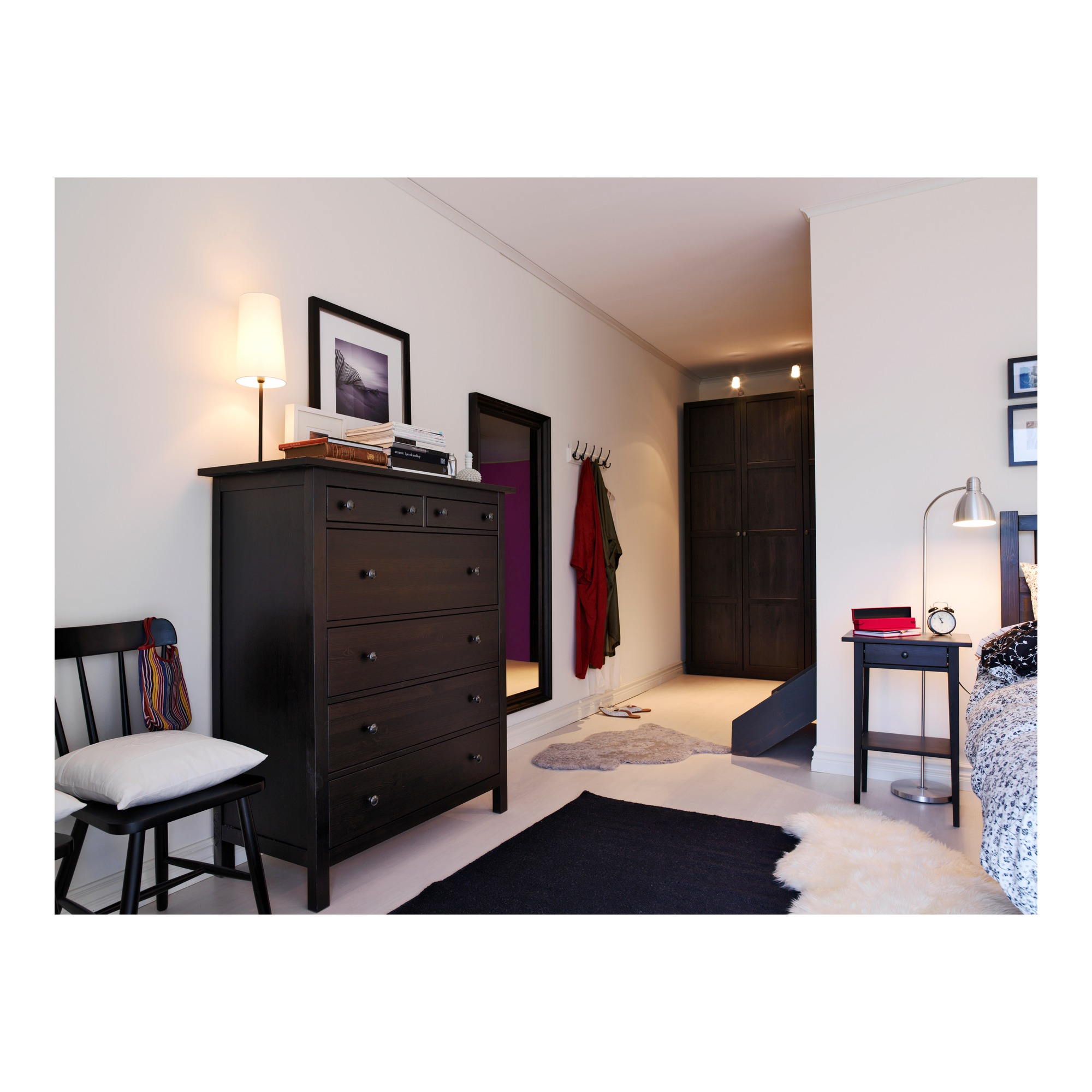 Hemnes Chest Of 6 Drawers Black