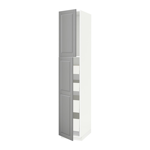 METOD/MAXIMERA - hi cab w 2 doors/4 drawers, white/Bodbyn grey | IKEA Hong Kong and Macau - PE586815_S4