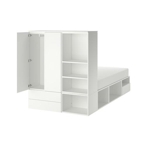 PLATSA - bed frame with 2 door+3 drawers, white/Fonnes   IKEA Hong Kong and Macau - PE778585_S4