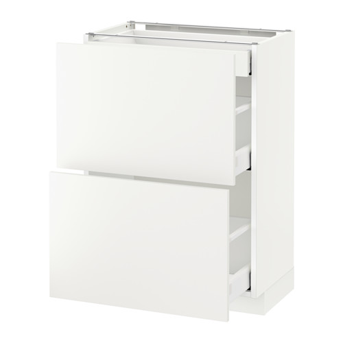 METOD base cab with 2 fronts/3 drawers