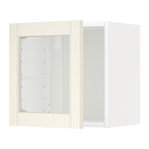 METOD wall cabinet with glass door