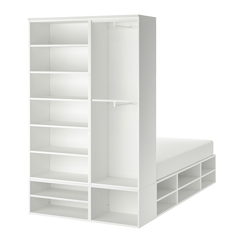 PLATSA - bed frame with storage, white | IKEA Hong Kong and Macau - PE778583_S4