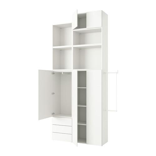 PLATSA - wardrobe with 5 doors+3 drawers, white/Fonnes white | IKEA Hong Kong and Macau - PE778565_S4