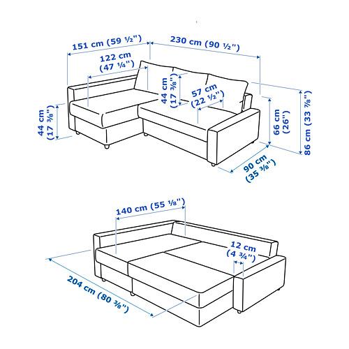 FRIHETEN 角位梳化床(可貯物)