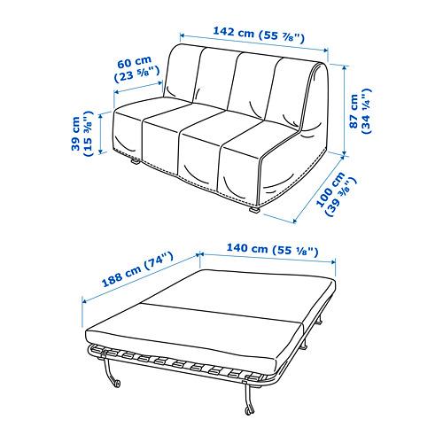 LYCKSELE MURBO - 2-seat sofa-bed, Vansbro bright green | IKEA Hong Kong and Macau - PE738886_S4