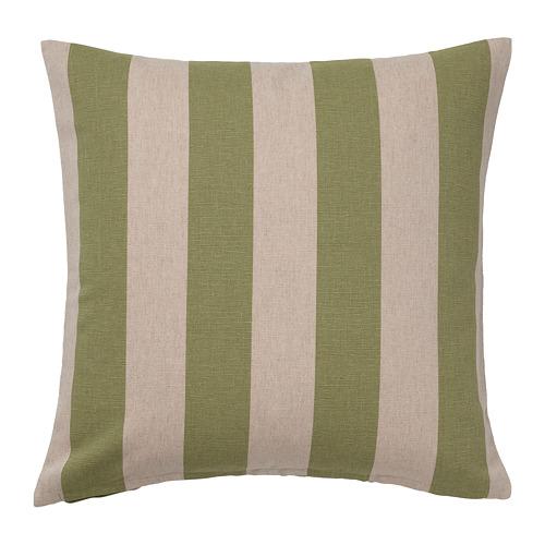 HILDAMARIA - cushion cover, green natural/striped | IKEA Hong Kong and Macau - PE791749_S4