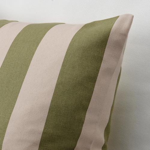 HILDAMARIA - cushion cover, green natural/striped | IKEA Hong Kong and Macau - PE791747_S4