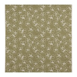 IDASARA - 布料, 綠色 米色/花 | IKEA 香港及澳門 - PE791794_S3