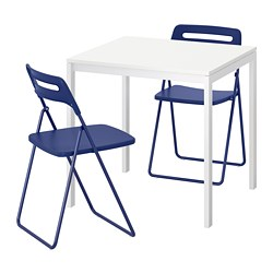 NISSE/MELLTORP - table and 2 folding chairs, white/dark blue-lilac | IKEA Hong Kong and Macau - PE695845_S3
