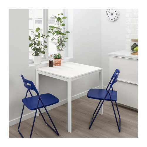 NISSE/MELLTORP - table and 2 folding chairs, white/dark blue-lilac | IKEA Hong Kong and Macau - PE695865_S4