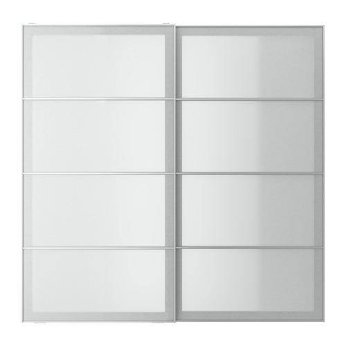 SVARTISDAL - pair of sliding doors, white paper effect | IKEA Hong Kong and Macau - PE778033_S4