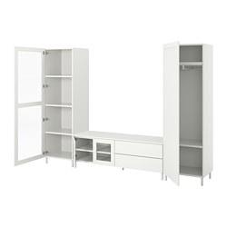 PLATSA - 四門電視/貯物組合連2抽屜, 白色/Fonnes Värd | IKEA 香港及澳門 - PE778368_S3