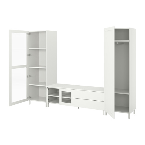 PLATSA TV/storage comb w 4 doors+2 drawers