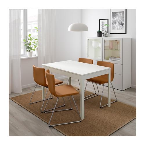 BERNHARD/EKEDALEN - table and 4 chairs, white/Mjuk golden-brown | IKEA Hong Kong and Macau - PE695882_S4