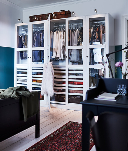 PAX/TYSSEDAL - 衣櫃組合, 白色/白色 玻璃 | IKEA 香港及澳門 - PH167257_S4