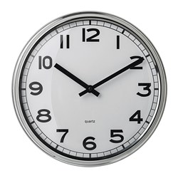PUGG - wall clock, stainless steel | IKEA Hong Kong and Macau - PE695914_S3