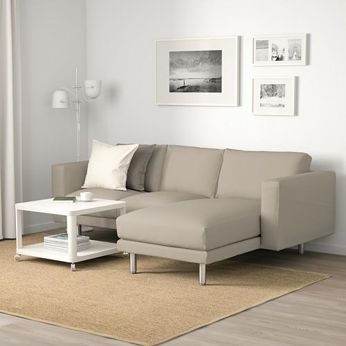 NORSBORG - 3-seat sofa, with chaise longue/Edum beige/metal | IKEA Hong Kong and Macau - PE659364_S4