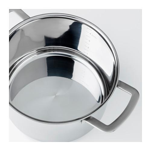 IKEA 365+ - 連蓋鍋 5升, 不銹鋼/玻璃 | IKEA 香港及澳門 - PE523582_S4