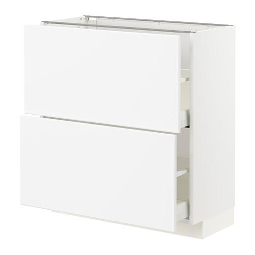 METOD/MAXIMERA - base cabinet with 2 drawers, white/Kungsbacka matt white | IKEA Hong Kong and Macau - PE792142_S4