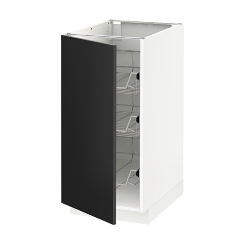 METOD - base cabinet with wire baskets, white/Uddevalla anthracite | IKEA Hong Kong and Macau - PE648796_S4
