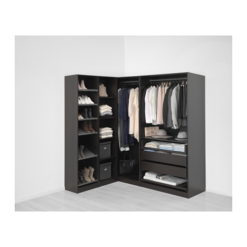 PAX - add-on corner unit with 4 shelves, black-brown | IKEA Hong Kong and Macau - PE648866_S4