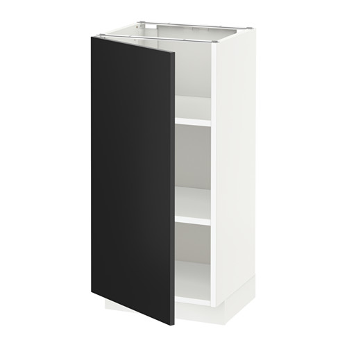 METOD - base cabinet with shelves, white/Uddevalla anthracite | IKEA Hong Kong and Macau - PE648823_S4
