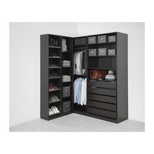 PAX - 角位衣櫃, 棕黑色   IKEA 香港及澳門 - PE648890_S4