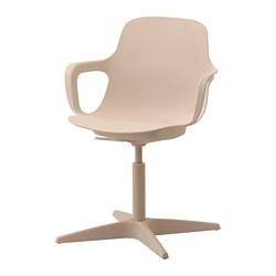 ODGER - 旋轉椅, 白色/米黃色 | IKEA 香港及澳門 - PE739278_S3