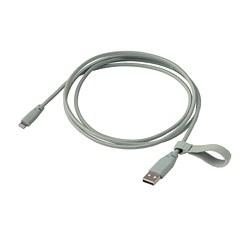 LILLHULT - USB至Lightning傳輸線, 布料/淺綠色 | IKEA 香港及澳門 - PE792290_S3