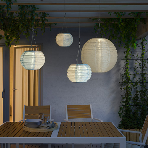 SOLVINDEN - 太陽能LED吊燈, 白色 藍色/戶外 球形   IKEA 香港及澳門 - PE792325_S4