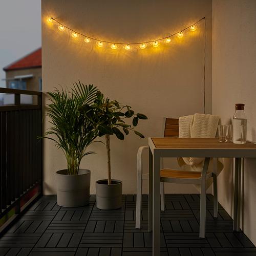SOLVINDEN - 12頭LED裝飾燈串, 電池操作 戶外/魚 透明 | IKEA 香港及澳門 - PE792327_S4