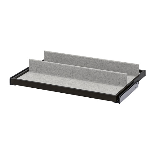 KOMPLEMENT - pull-out tray with shoe insert, black-brown/light grey | IKEA Hong Kong and Macau - PE778205_S4