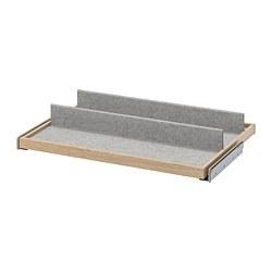 KOMPLEMENT - 拉出式底盤連鞋隔, 染白橡木紋/淺灰色 | IKEA 香港及澳門 - PE778208_S3