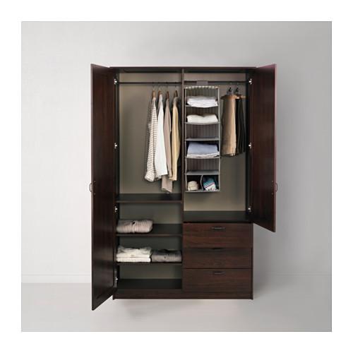 MUSKEN - 雙門衣櫃組合, 褐色 | IKEA 香港及澳門 - PE524345_S4