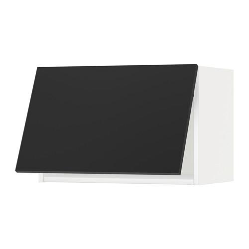 METOD - wall cabinet horizontal w push-open, white/Uddevalla anthracite | IKEA Hong Kong and Macau - PE649054_S4