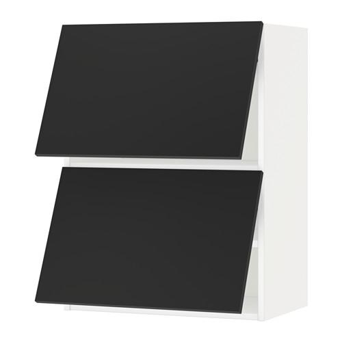METOD - wall cab horizo 2 doors w push-open, white/Uddevalla anthracite | IKEA Hong Kong and Macau - PE649056_S4