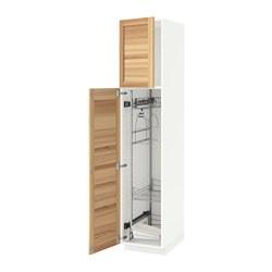 METOD - high cabinet with cleaning interior, white/Torhamn ash | IKEA 香港及澳門 - PE588206_S3