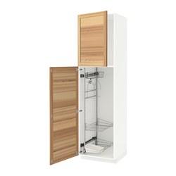 METOD - high cabinet with cleaning interior, white/Torhamn ash | IKEA 香港及澳門 - PE588229_S3