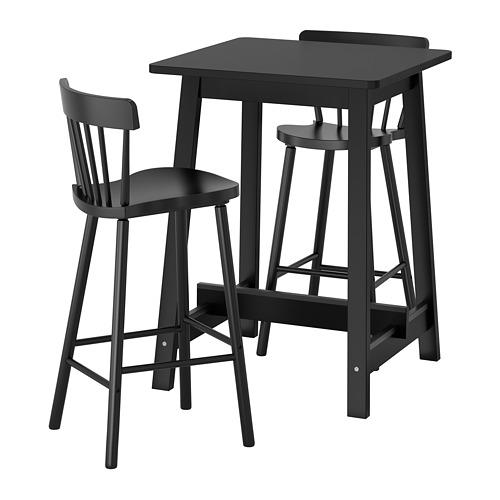 NORRARYD/NORRÅKER - bar table and 2 bar stools, black/black | IKEA Hong Kong and Macau - PE696393_S4