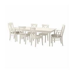 INGATORP/INGOLF - table and 6 chairs, white/Nordvalla beige | IKEA Hong Kong and Macau - PE696403_S3