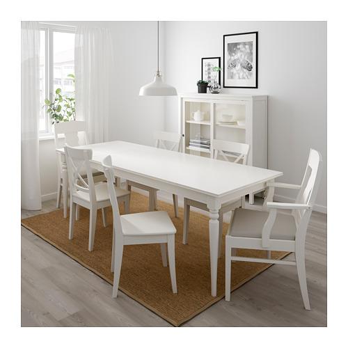 INGATORP/INGOLF - 一檯六椅, 白色/Nordvalla 米黃色 | IKEA 香港及澳門 - PE696404_S4