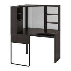 MICKE - 角位工作檯, 100x100x142 cm, 棕黑色 | IKEA 香港及澳門 - PE739443_S3