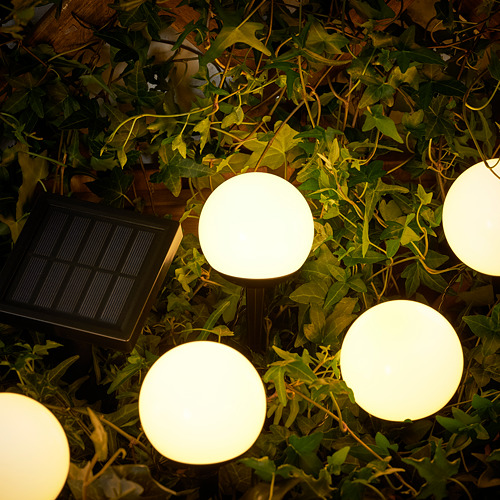 SOLVINDEN - 插地式太陽能LED裝飾燈, 戶外/五莖 白色 | IKEA 香港及澳門 - PE792373_S4